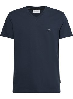 Calvin Klein T-shirt V-hals Regular Fit Navy (K10K103672 - DW4)