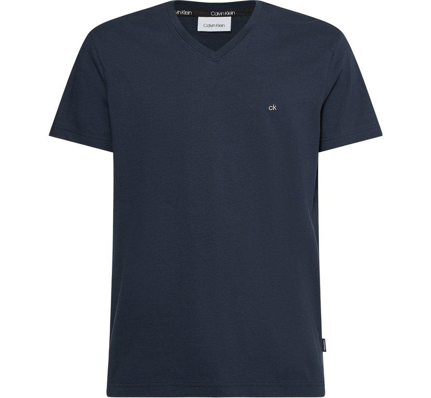 T-shirt V-hals Regular Fit Navy (K10K103672 - DW4)