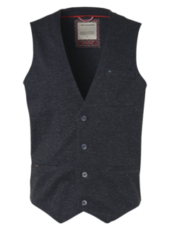No Excess Gilet Printed Jersey Navy (95640209 - 078)