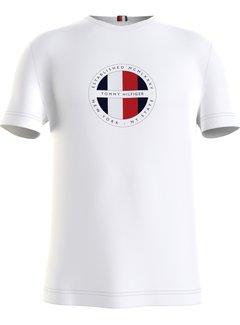 Tommy Hilfiger T-shirt Ronde Hals Wit (MW0MW16593 - YBR)