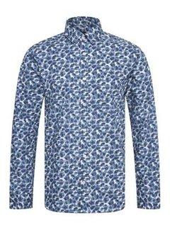 Matinique Overhemd Trostol BU Print Blauw (30205263 - 194026)