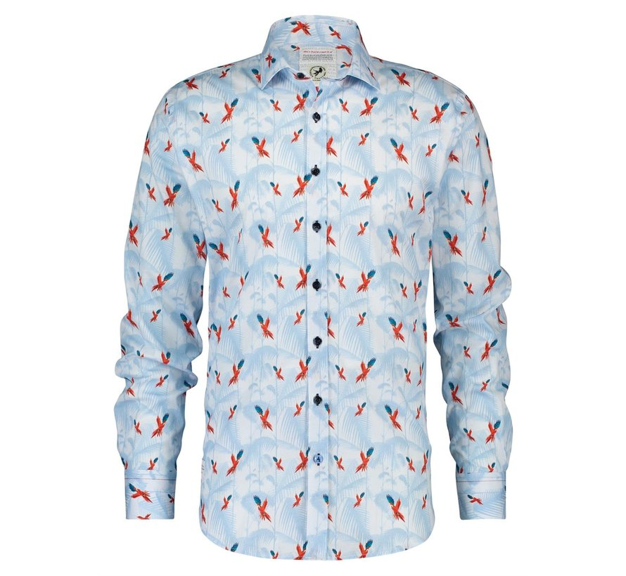 Overhemd Flying Parrots Lichtblauw (20.01.016)