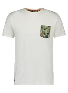 A Fish Named Fred T-Shirt Cactus White (20.03.411)