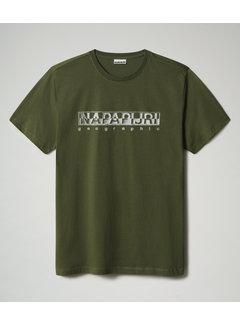 Napapijri T-shirt Ronde Hals Sallar Groen (NP0A4F9O - G2C1)