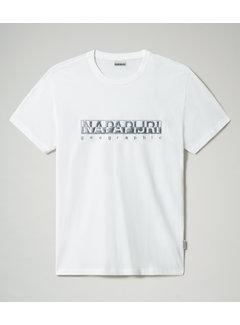 Napapijri T-shirt Ronde Hals Sallar Wit (NP0A4F9O - 0021)