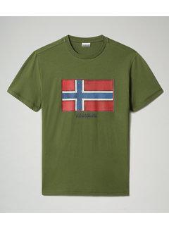 Napapijri T-shirt Ronde Hals Sirol Groen (NP0A4F9R - G2C1)