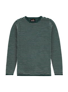 Kultivate Pullover KN Structure Stripe Groen (2001010800 - 493)
