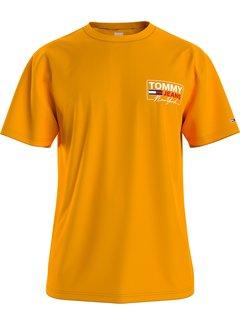 Tommy Hilfiger T-shirt Ronde Hals Oranje (DM0DM10216 - S00)
