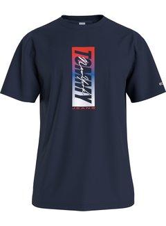 Tommy Hilfiger T-shirt Ronde Hals Navy Blauw (DM0DM10238 - C87)