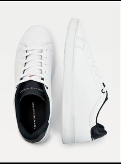 Tommy Hilfiger Leren Sneakers Retro White/Desert Sky (FM0FM03276 - 0K6)