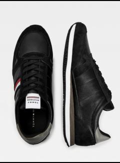 Tommy Hilfiger Leren Sneakers met Strepen Black (FM0FM03430 - BDS)