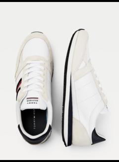 Tommy Hilfiger Leren Sneakers met Strepen White (FM0FM03430 - YBR)