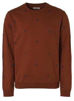 No Excess Sweater All Over Embroidered Rusty (97110901 - 092)