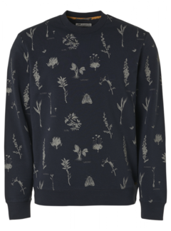 No Excess Sweater Print Navy (11100110 - 078)