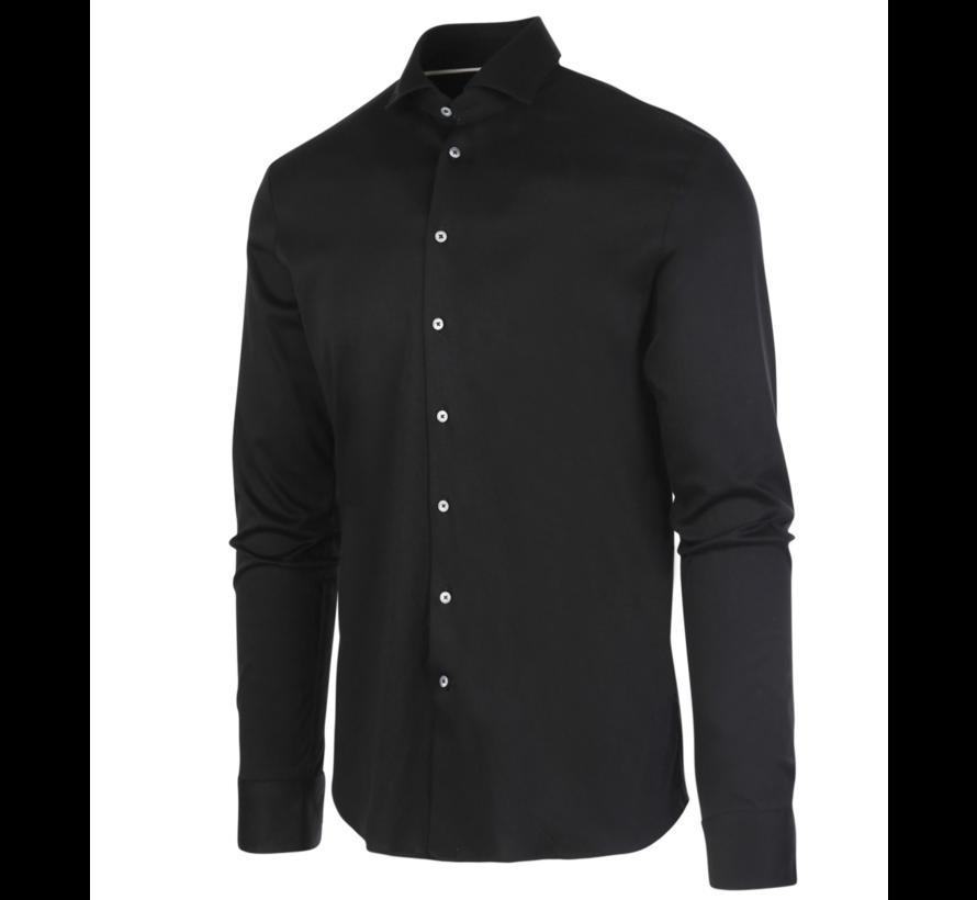Jersey Overhemd Zwart (James - Black)N