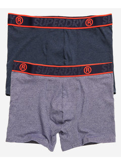 Superdry Boxershorts 2Pack Organic Cotton Blauw (M3110001A - T3V)