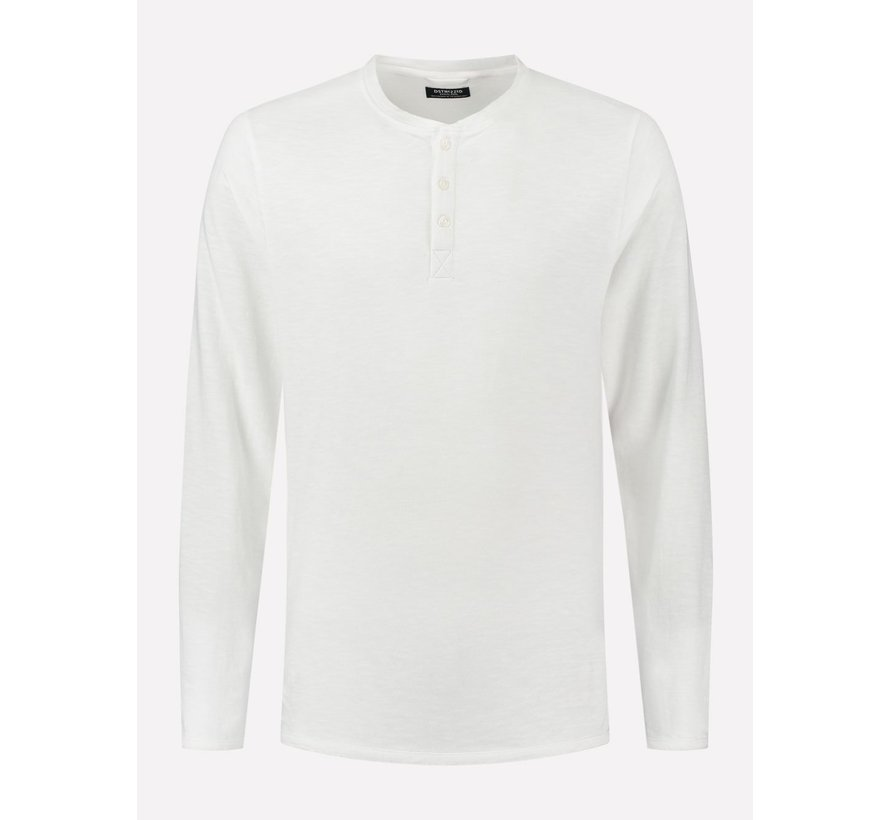 Longsleeve T-shirt Henley Wit (202618 - 100)