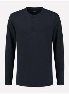 Dstrezzed Longsleeve T-shirt Henley Dark Navy (202618 - 649)