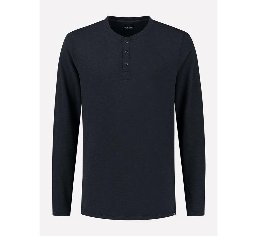 Longsleeve T-shirt Henley Dark Navy (202618 - 649)