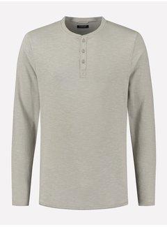 Dstrezzed Longsleeve T-shirt Henley Ghost Grey (202618 - 831)