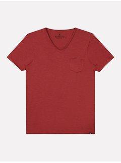 Dstrezzed T-shirt V-hals Stewart Stone Red (202636 - 410)