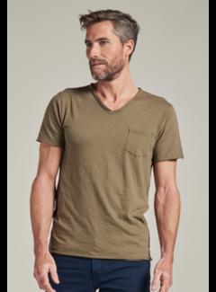 Dstrezzed T-shirt V-hals Stewart Army Green (202636 - 511)