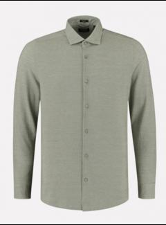 Dstrezzed Overhemd Cut away boord Pique Army Green (303414 - 511)