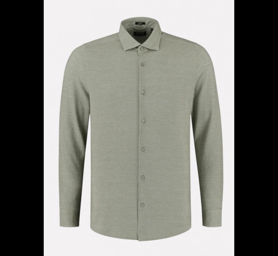 Overhemd Cut away boord Pique Army Green (303414 - 511)