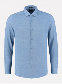 Dstrezzed Overhemd Cut away boord Pique Sky (303414 - 628)