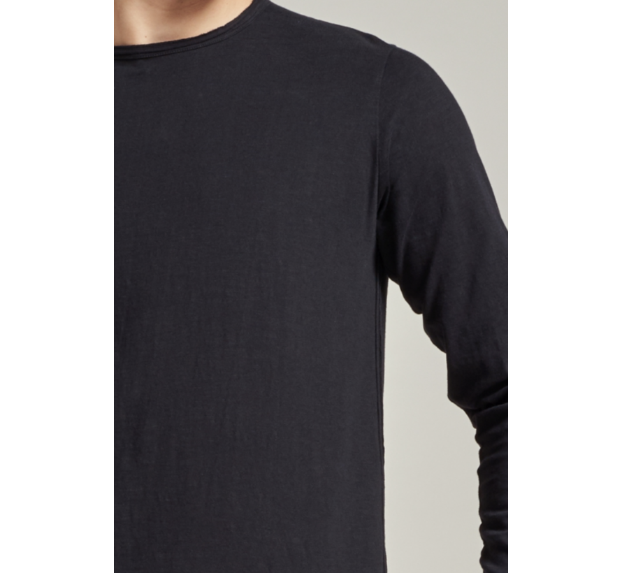 T-shirt Lange Mouw Zwart (202622 - 999)