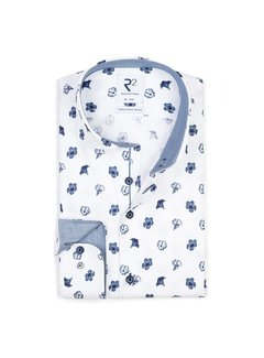 R2 Amsterdam Overhemd Blauw (112.WSP.115 - 014)