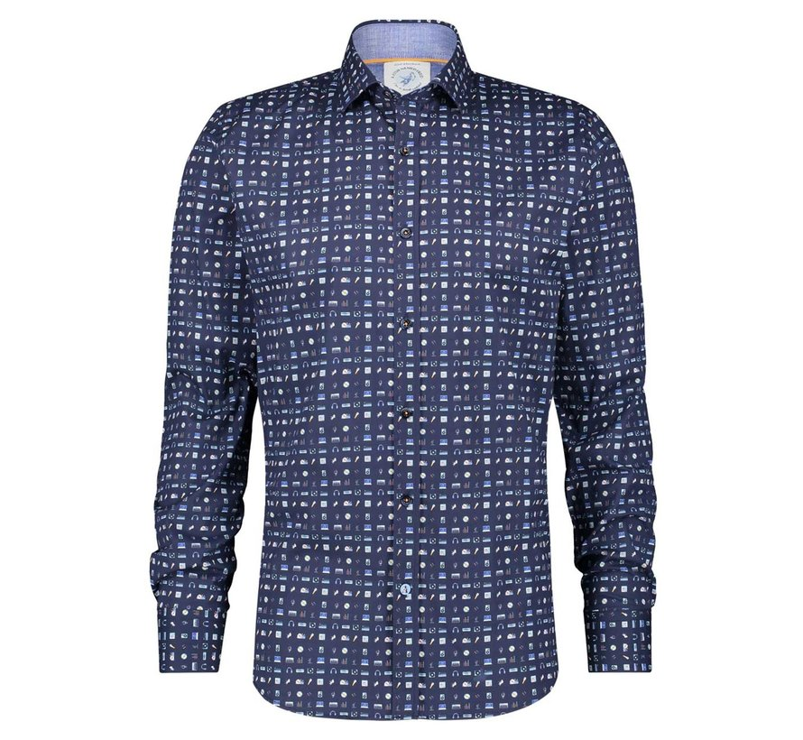 Overhemd Shirt DJ Gear Navy (22.01.017)N