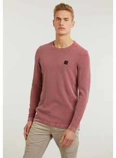 CHASIN' Trui Basal Washed Structuur Dark Pink (3111.337.011 - E46)