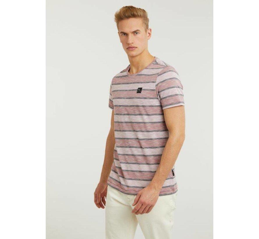 T-shirt Universal Wide Strepen Dark Pink (5211.219.280 - E46)