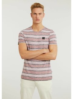 CHASIN' T-shirt Universal Wide Strepen Dark Pink (5211.219.280 - E46)