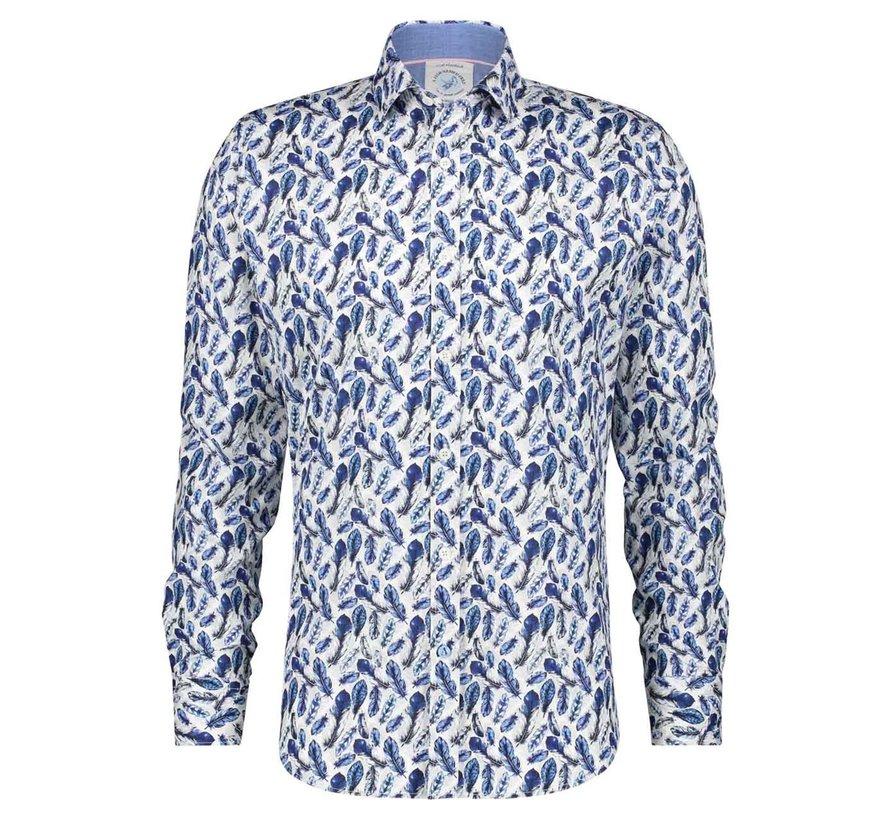 Overhemd Feathers Blue (22.02.046)