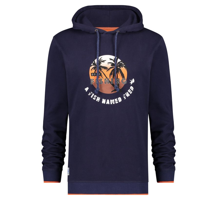 Hooded Sweater Navy (22.01.508)