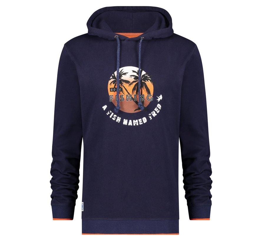 Hooded Sweater Navy (22.01.508)N