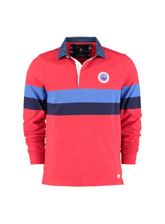 New Zealand Auckland Polo Lange Mouw Weiti Fury Rood (21AN200 - 606)