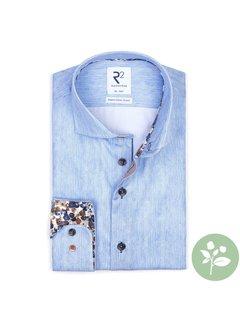 R2 Amsterdam Overhemd Blauw (112.WSP.052 - 018)N