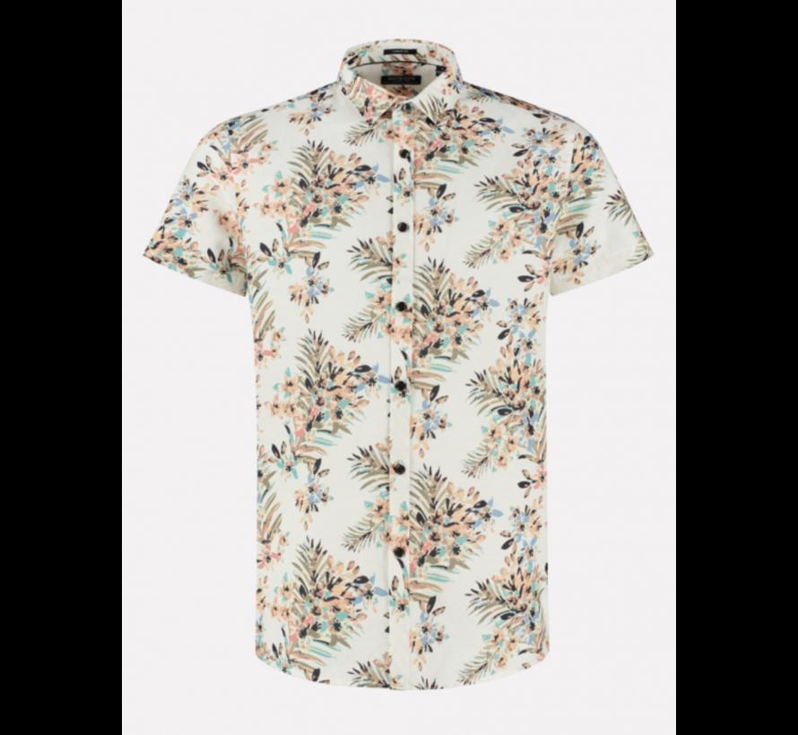 Overhemd Print Bloemen Wit (311228 - 100)