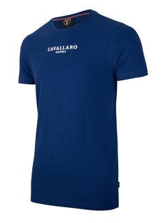 Cavallaro Napoli T-shirt Logo Regular Fit Marine Blue (117211000 - 660000)