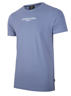 Cavallaro Napoli T-shirt Logo Regular Fit Mid Blue (117211000 - 650000)
