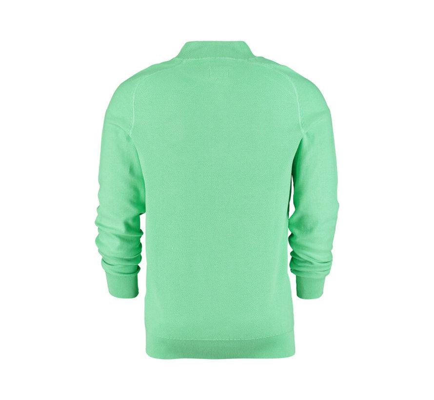 Pullover Half-Zip Percy Licht Groen (21AN403 - 505)