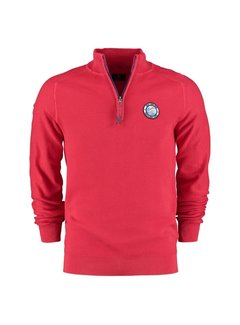 New Zealand Auckland Pullover Half-Zip Percy Rood (21AN403 - 606)