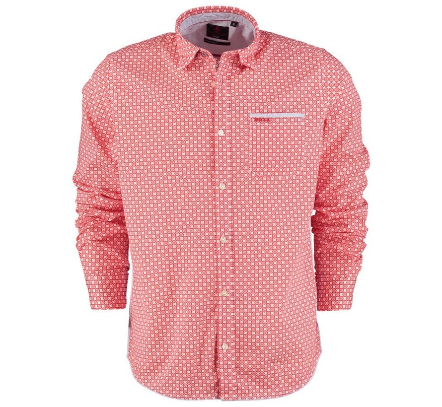 Overhemd Manaia Print Rood (21AN552 - 606)
