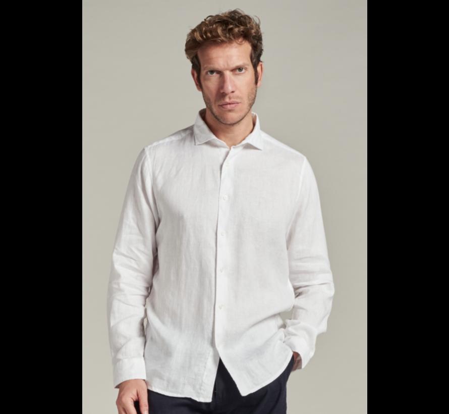 Overhemd Linnen Wit (303426 - 100)