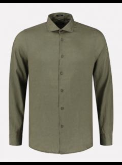 Dstrezzed Overhemd Linnen Army Groen (303426 - 511)