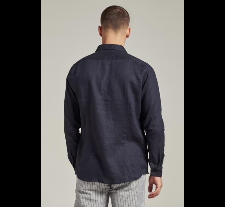 Overhemd Linnen Navy Blauw (303426 - 649)