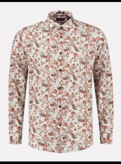 Dstrezzed Overhemd Linnen Print Wit (303430 - 100)